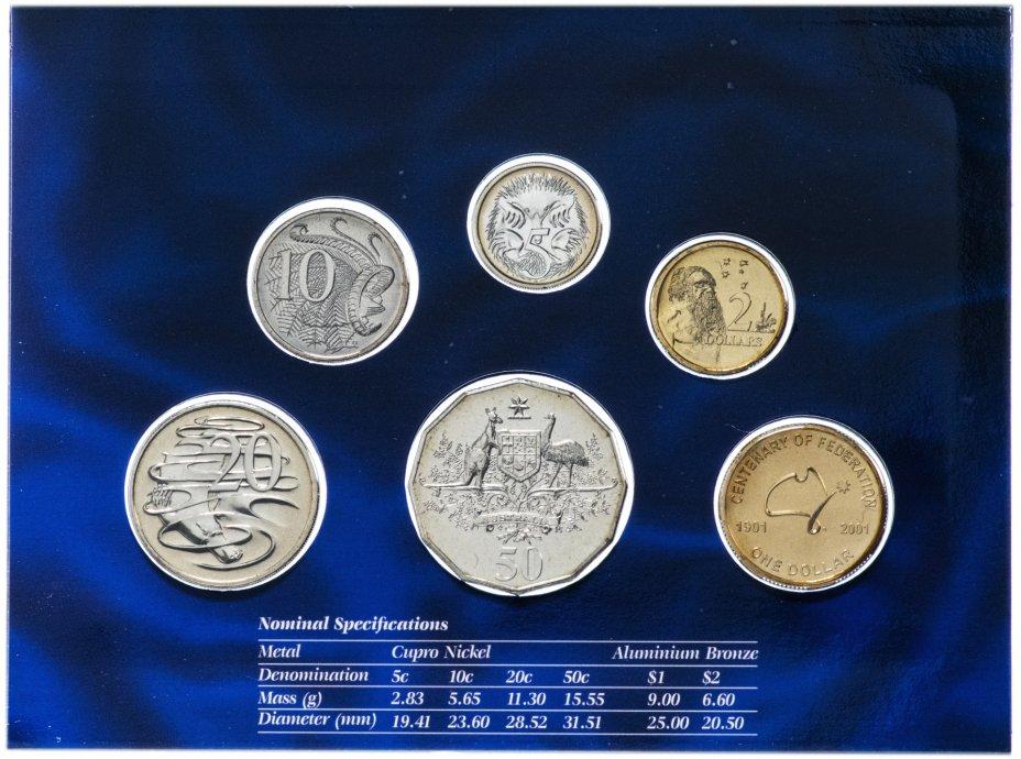 купить Австралия набор монет 2001 (6 монет в буклете)