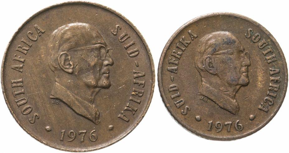 """купить ЮАР, две монеты 1976 """"Окончание президентства Якобуса Йоханнеса Фуше"""""""