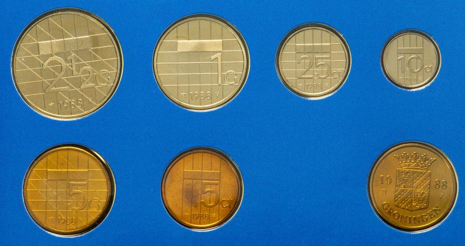 купить Нидерланды набор монет 1989 (6 монет+жетон)