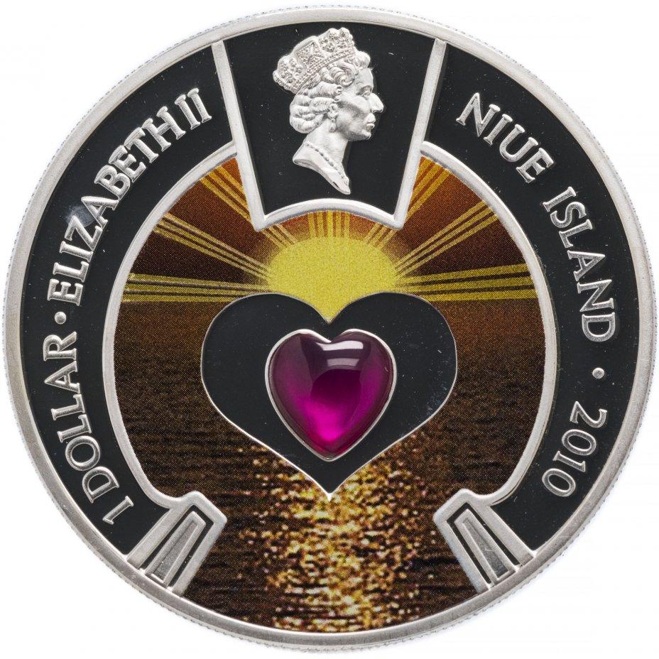 """купить Остров Ниуэ 1 доллар 2010 """"Сердце"""" с сертификатом"""