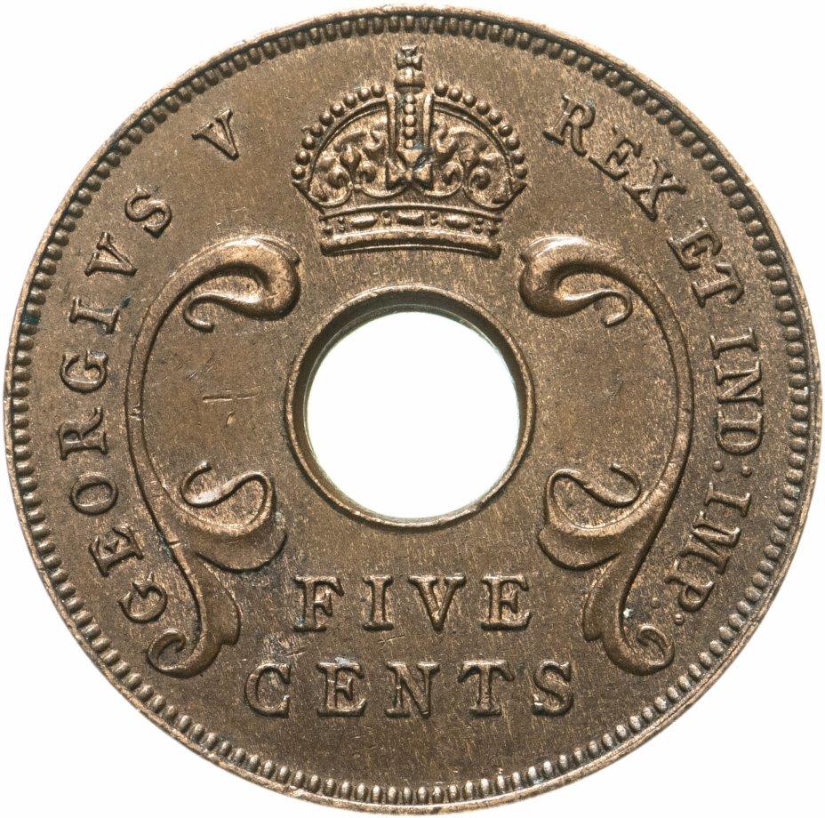 купить Британская Восточная Африка 5 центов (cents) 1922