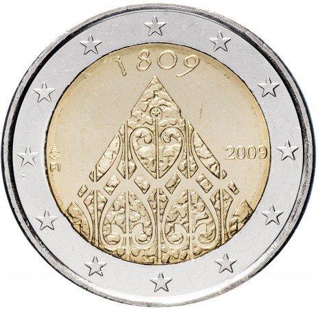 """купить Финляндия 2 евро 2009 """"200 лет автономии Финляндии и учреждения центральных правительственных учреждений"""""""
