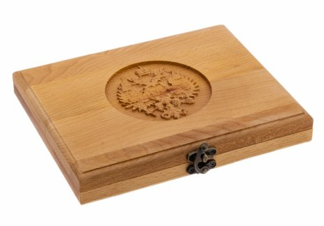 купить Футляр деревянный для 18 монет (массив бука, с пропиткой)