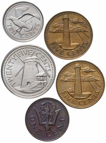купить Барбадос набор из 5 монет 1973-2005