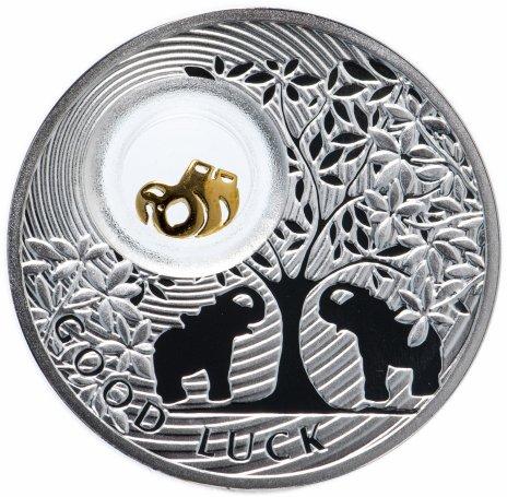 """купить Ниуэ 2 доллара (dollars) 2012 """"Монеты на счастье - Слон"""" в буклете"""