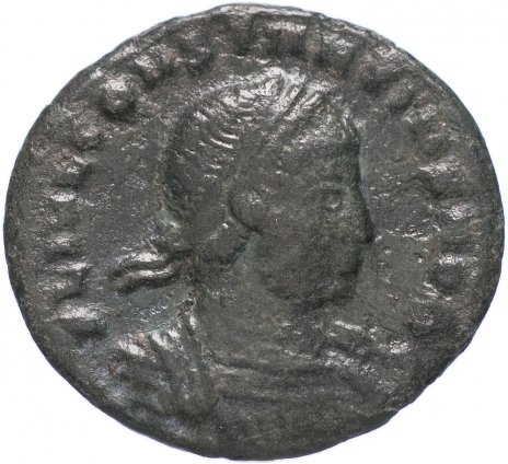 купить Римская Империя Констанций II 324–361 гг фоллис (реверс: два воина стоят лицом друг к другу, между ними два штандарта)