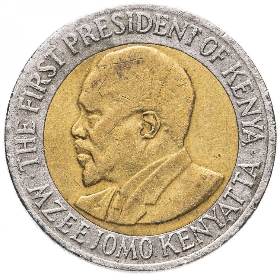 купить Кения 5 шилингов (shillings) 2005-2009 не магнетик,  случайная дата