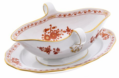 купить Соусник с флоральным узором, фарфор, деколь, Meissen porcelain manufactory, Германия, 1975 г.