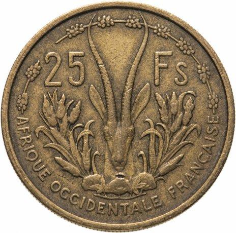 купить Французская Западная Африка 25 франков (francs) 1956