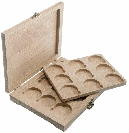 купить Футляр деревянный для 18 монет