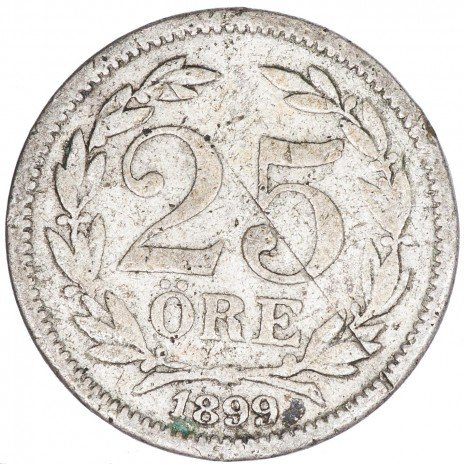 купить Швеция 25 эре 1899