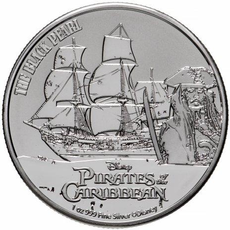 """купить Остров Ниуэ 2 доллара 2021 """"Пираты Карибского моря. Чёрная жемчужина"""""""