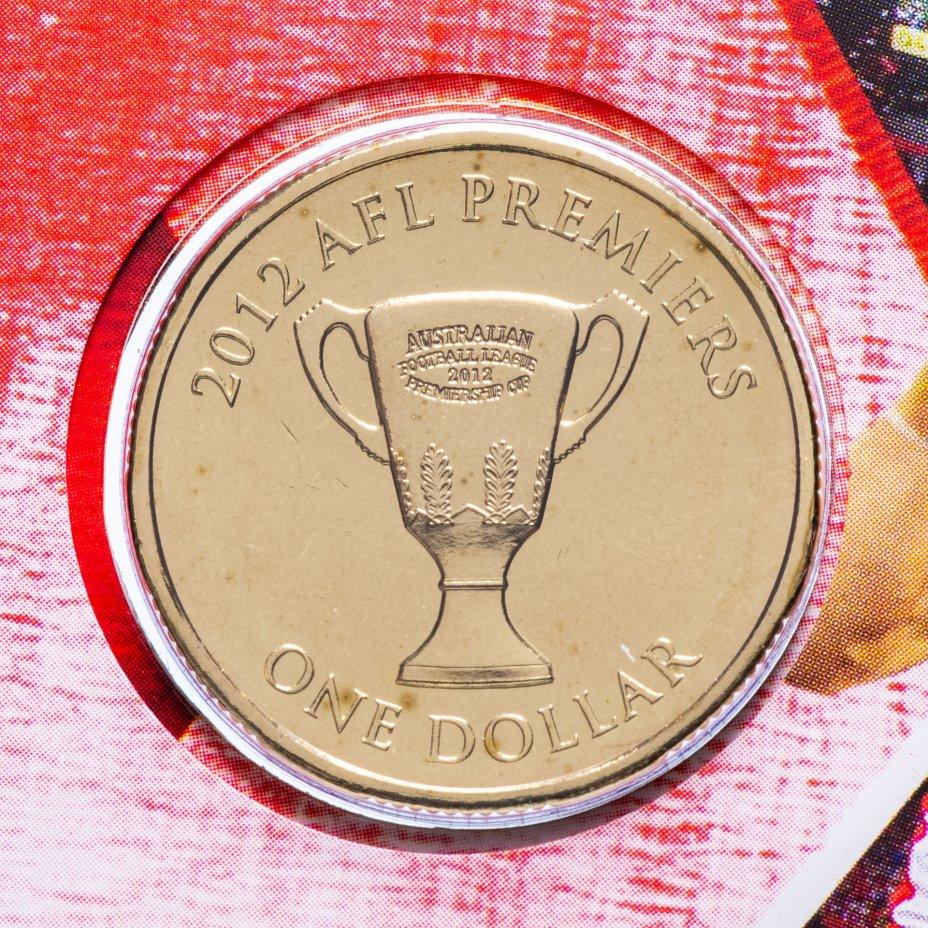"""купить Австралия 1 доллар (dollar) 2012 """"Австралийская футбольная лига 2012"""" (в конверте, с маркой)"""