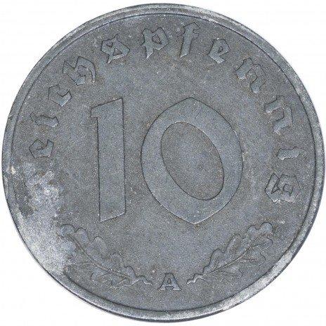 купить Третий Рейх 10 рейхспфеннигов 1945