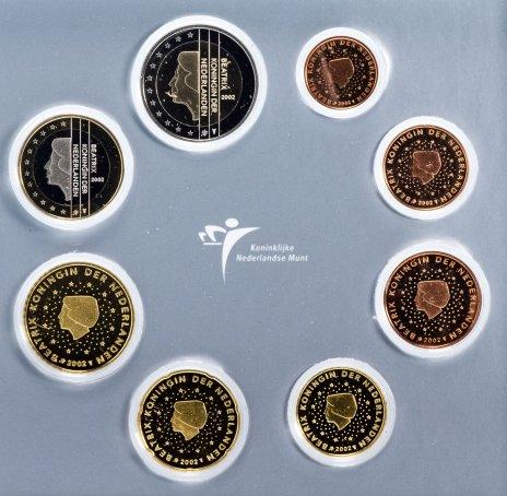 купить Нидерланды набор из 8-ми монет пруфлайк 2002 в официальной упаковке с сертификатом