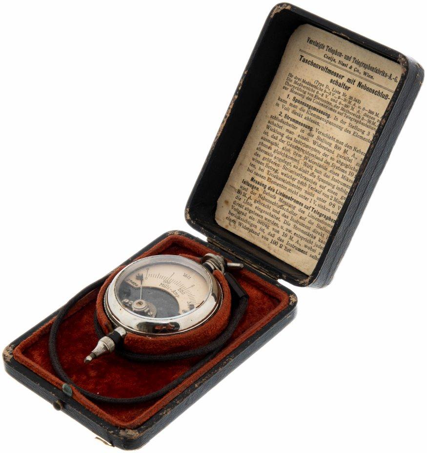 """купить Вольтметр карманный с измерительным наконечником, """"Vereinigte Telephon-und Telegraphen-Fabriks-A.G. Czelja, Nissl & Co"""".,  Австрия, 1900-1920 гг."""