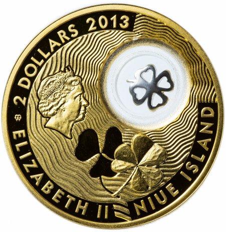 """купить Ниуэ 2 доллара (dollars) 2013 """"Монеты на счастье - Четырехлистный клевер"""""""