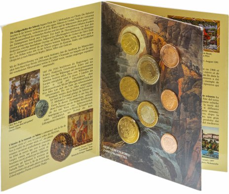 купить Швейцария набор из 8 монет 2003 в буклете