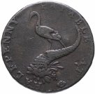 "Купить Великобритания 1/2 пенни (Half Penny) 1792-1793 Аист и рог изобилия ""Conder Token Birmingham Mining & Copper Company Fine Stork & Cornucopia"""