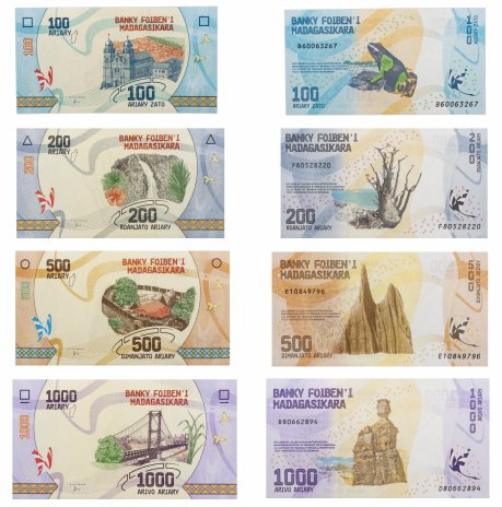 купить Мадагаскар набор из 4х банкнот 2017 года