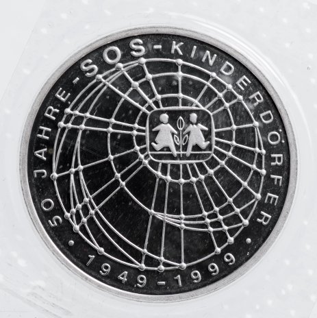 """купить ФРГ 10 марок 1999 """"50 лет благотворительной организации SOS-Kinderdorfer"""" J"""