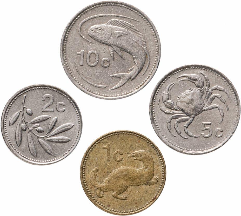 купить Мальта набор из 4 монет монет 1986 (1, 2, 5 и 10 центов)