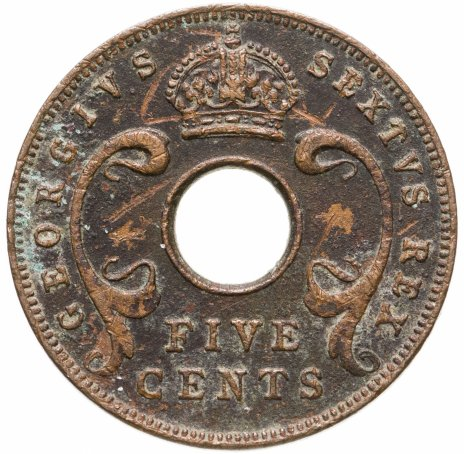 купить Британская Восточная Африка 5 центов 1949