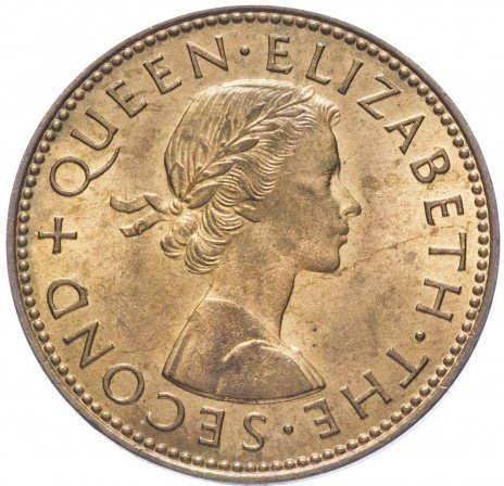 купить Новая Зеландия 1/2 пенни 1964