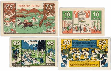 купить Германия (Брауншвейг: Бад-Гарцбург) набор из 4-х нотгельдов 1921