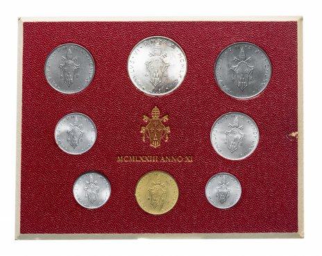 купить Ватикан полный годовой набор монет 1973-1975 (8 штук) лиры (L.500 - серебро) в буклете