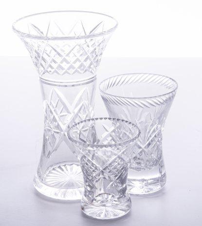 купить Набор из трёх ваз, хрусталь, алмазная грань, СССР, 1970-1990 гг.