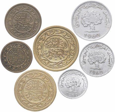 купить Тунис набор из 8 монет 1960-1976