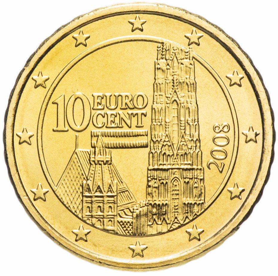 купить Австрия 10 евро центов 2008