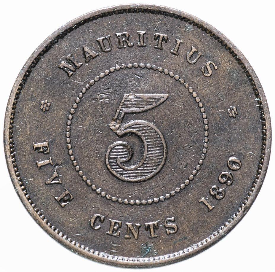 купить Маврикий 5 центов 1890