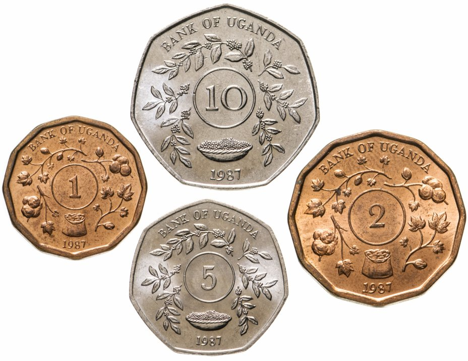 купить Уганда набор монет 1987 (4 штуки)