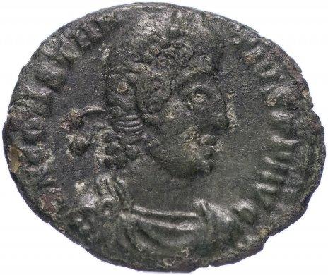 купить Римская Империя Констанций II 324–361 гг фракция фоллиса (реверс: император стоит влево, в руках шар и копье)