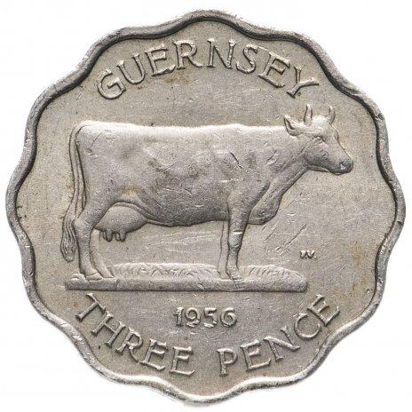 купить Остров Гернси 3 пенса (pence) 1956 (толщина 1,5 мм)