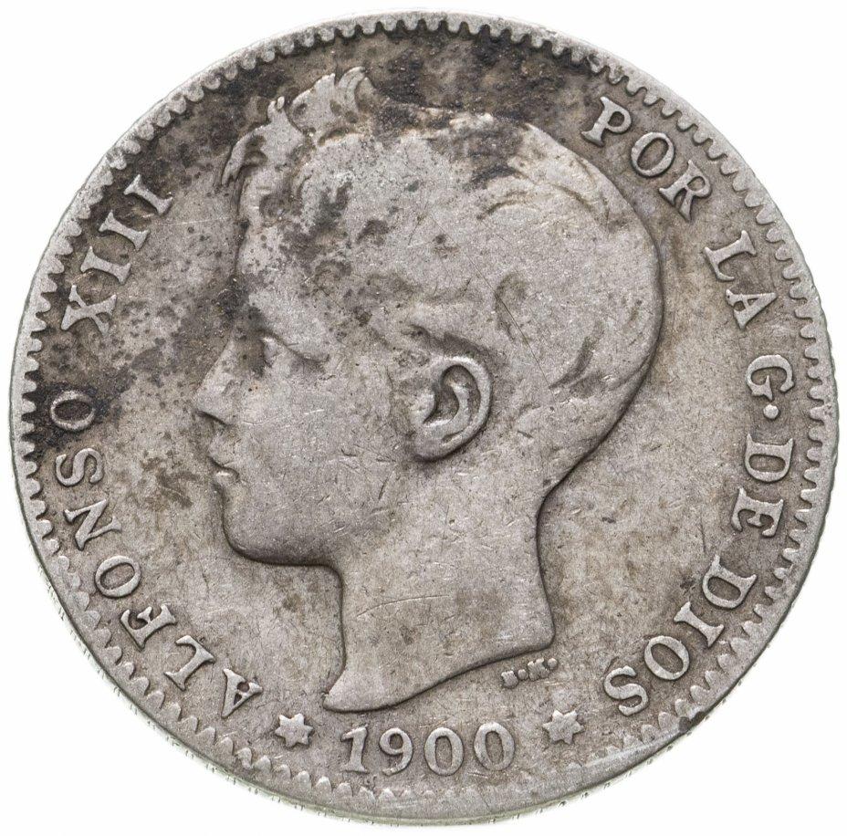 купить Испания 1песета (peseta) 1900