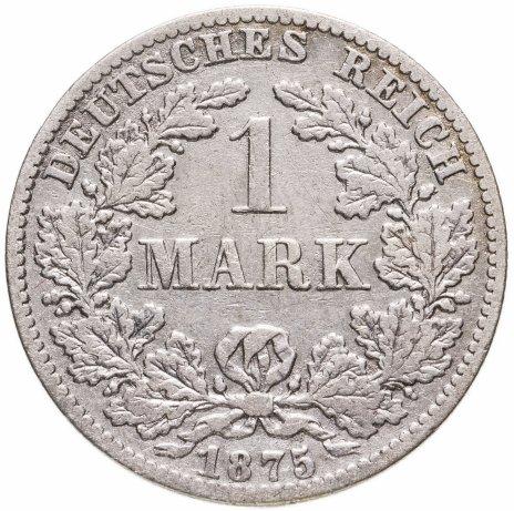 """купить Германия 1 марка 1875 B знак монетного двора: """"B"""" - Ганновер"""
