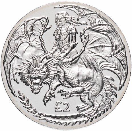 купить Британская территория Индийского океана 2 фунта 2019 года  Воительница на драконе