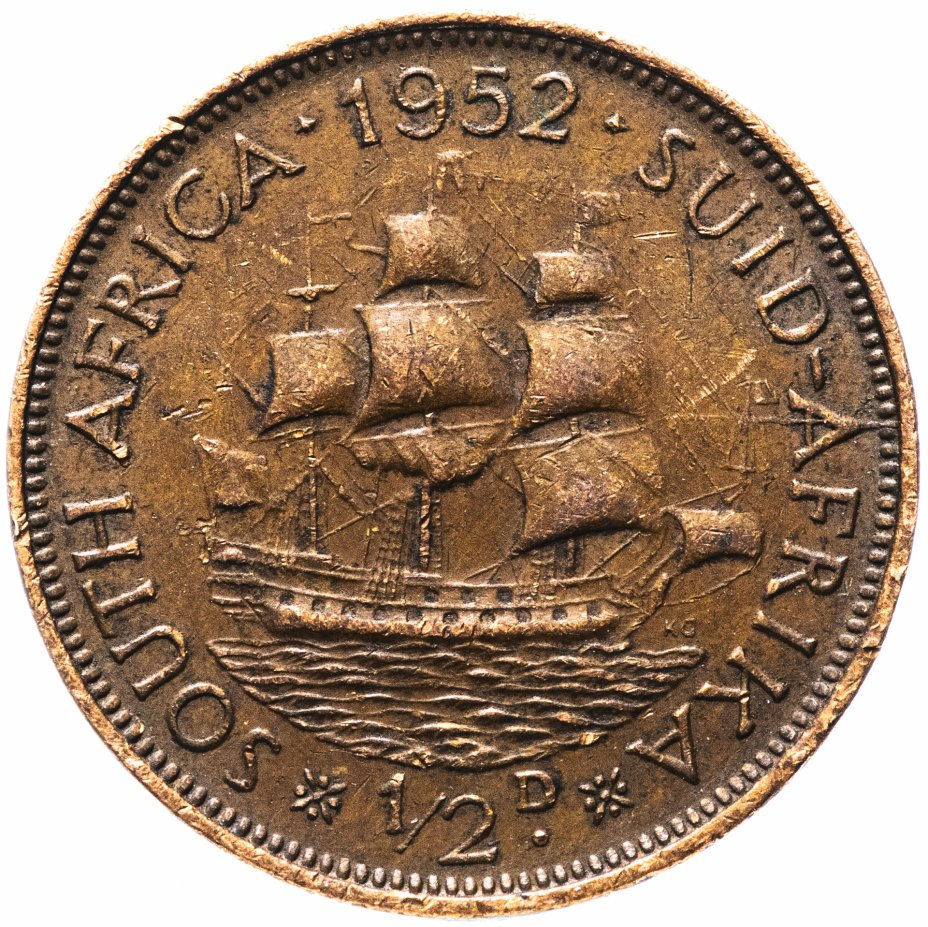 купить ЮАР 1/2 пенни (penny) 1952