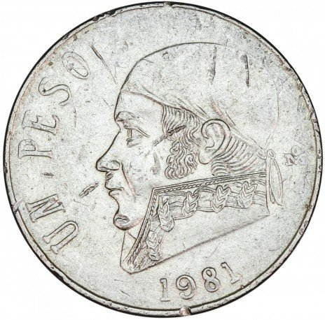 купить Мексика 1 песо 1981