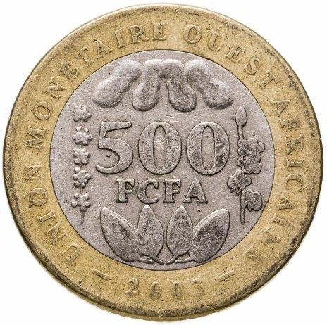 купить Западная Африка (BCEAO) 500 франков (francs) 2003-2010, случайная дата