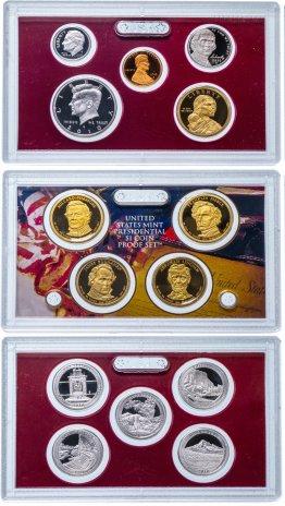 купить США набор из 14 монет proof-сет в 3 жестких запайках 2010 с сертификатом