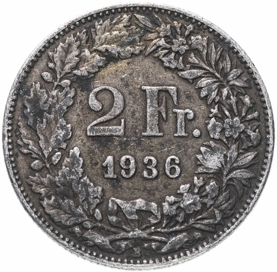 купить Швейцария 2 франка 1936