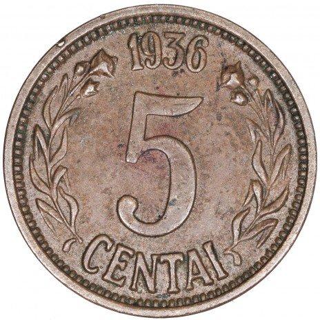 купить Литва 5 центов 1936