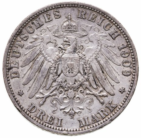 купить Германия (Империя) 3 марки (mark) 1909 A  Пруссия