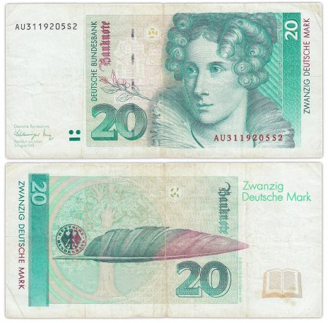 купить Германия 20 марок 1991 (Pick 39а)
