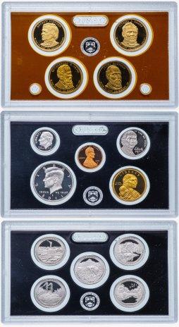 купить США набор из 14 монет proof-сет в 3 жестких запайках 2011 с сертификатом