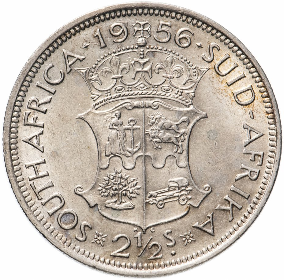 купить ЮАР 2 1/2 шиллинга (shillings) 1956